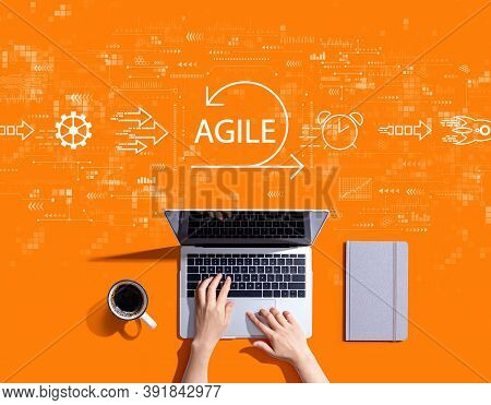 Agile Concept With Person Using A Laptop Computer