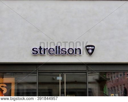 Strellson Shop Sign In Trier, Rhineland-palatinate, Germany - October 20, 2020