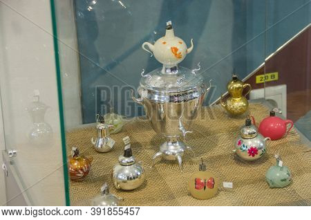 Russia - 22 November 2019. Exhibition Of The Museum Of Christmas Toys