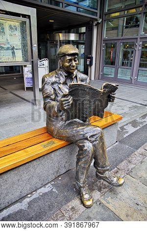 Oslo, Norway - 24 Jun 2012: The Statue On Karl Johans Street, Oslo, Norway