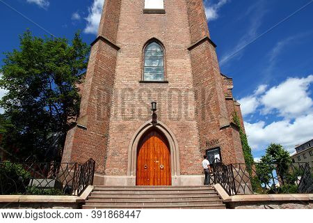 Oslo, Norway - 27 Jun 2012: The Ancient Church In The Center Of Oslo, Norway