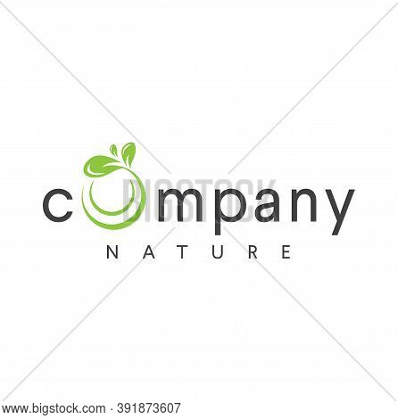 Organic Leaf Circle Letter O Logo Simple Emblem Template Vector. Round Leaves Initial O Logo Nature.