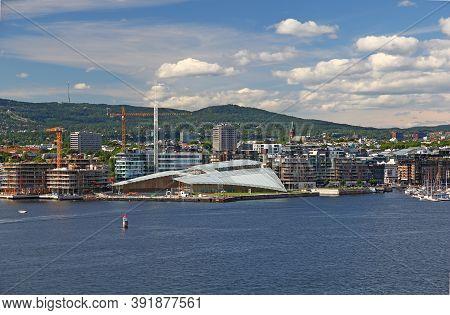 Oslo, Norway - 27 Jun 2012: The Marina In Oslo, Norway