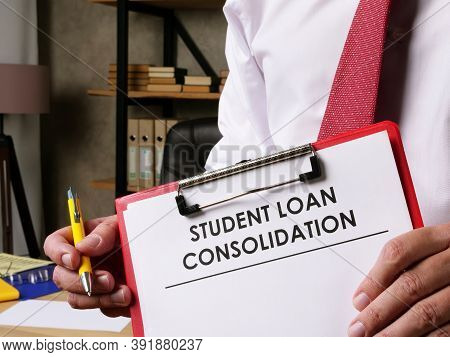 Man Offers Student Loan Consolidation For Signing.