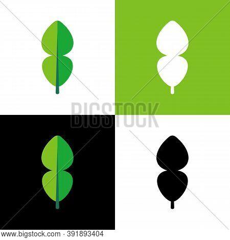 Kaffir Lime Leaf Set, Vector Illustration Design