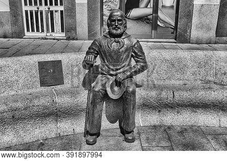 La Maddalena, Italy - August 7: Bronze Statue Of Giuseppe Garibaldi In The Main Square Of La Maddale