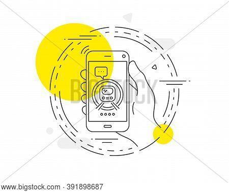 Metro Subway Transport Line Icon. Mobile Phone Vector Button. Public Underground Transportation Sign