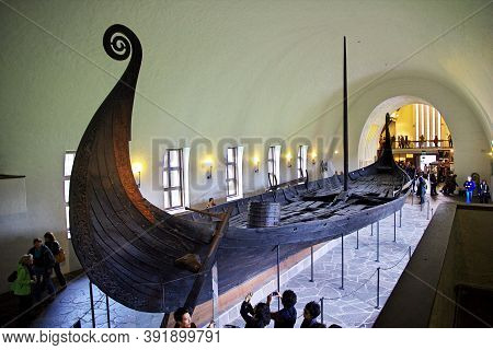 Oslo, Norway - 24 Jun 2012: Viking Ship Museum In Oslo, Norway