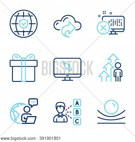 Business Icons Set. Included Icon As Opinion, Reject Access, Global Insurance Signs. Internet, Cloud