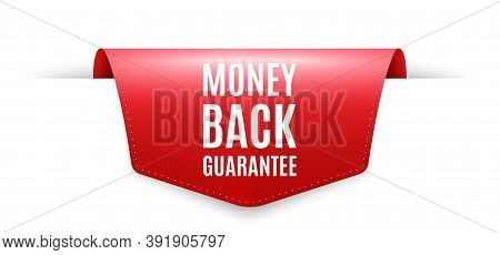 Money Back Guarantee. Ribbon Label Tag. Promo Offer Sign. Advertising Promotion Symbol. Infographics
