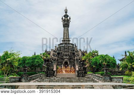 Entrance To The Bajra Sandhi Monument In The Center Of Denpasar Bali. A Popular Landmark In The Cent