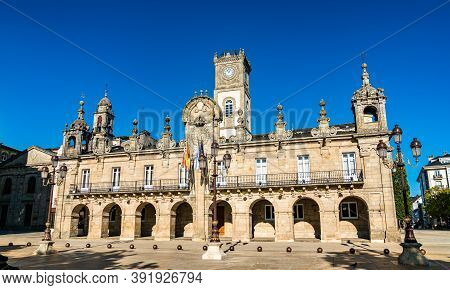 The Town Hall Of Lugo In The Baroque Style In Galicia, Spain