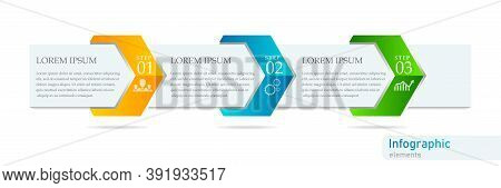Creative Concept For Infographic. Business Data Visualization. Abstract Elements Diagram With 3 Step
