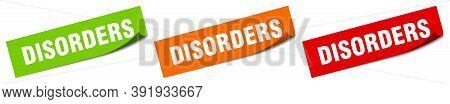 Disorders Sticker. Disorders Square Isolated Sign. Disorders Label