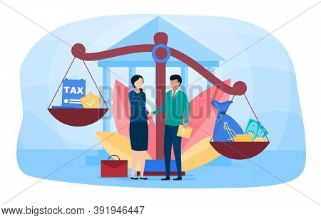 Tax Attorney Concept. Tax Law And Regulations Financial Advisor Justice. Can Be Use For, Website, La