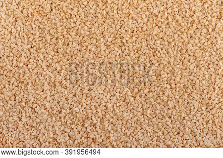 Sesame Seeds Background. Organic Dry Sesame Seeds.