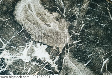 Natural Dark Marble Abstract Background Or Backdrop.