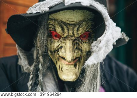 Witch Mannequin Or Figure Or Mask For Halloween.