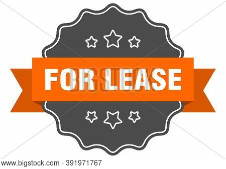 For Lease Label. For Lease Isolated Seal. Sticker. Sign