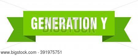 Generation Y Ribbon. Generation Y Paper Band Banner Sign