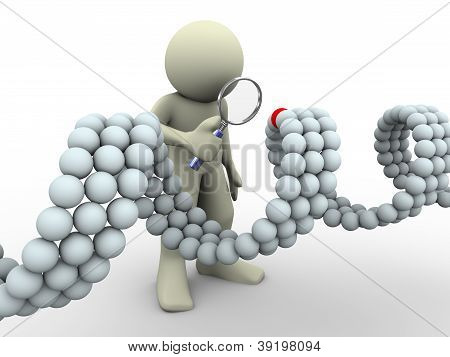 3D Man And Dna