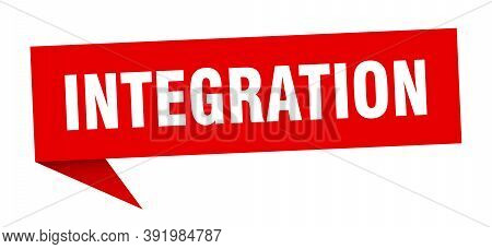 Integration Speech Bubble. Integration Ribbon Sign. Integration Banner