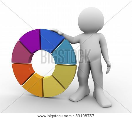 3D Man With Color Wheel