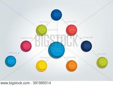 Flowchart Diagram, Scheme. Infographic Element. Vector Illustration.