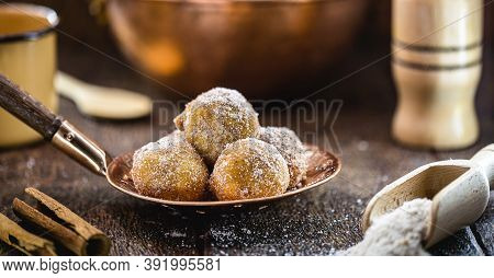 The Fried Sweet Pastry Or Fried Dumplings, Known As Fritule, Is A Typical Dessert Of The Adriatic Co