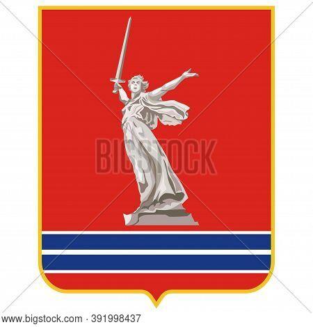 Coat Of Arms Of Volgograd Oblast Of Russia