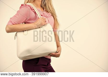 Beauty Of Woman Isolated On White. Casual And Everyday Style. Female Fashion Style. Stylish Woman Wi