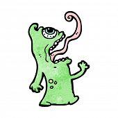 crazy gross cartoon alien poster