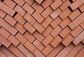 a pile of kiln fire refractory bricks poster