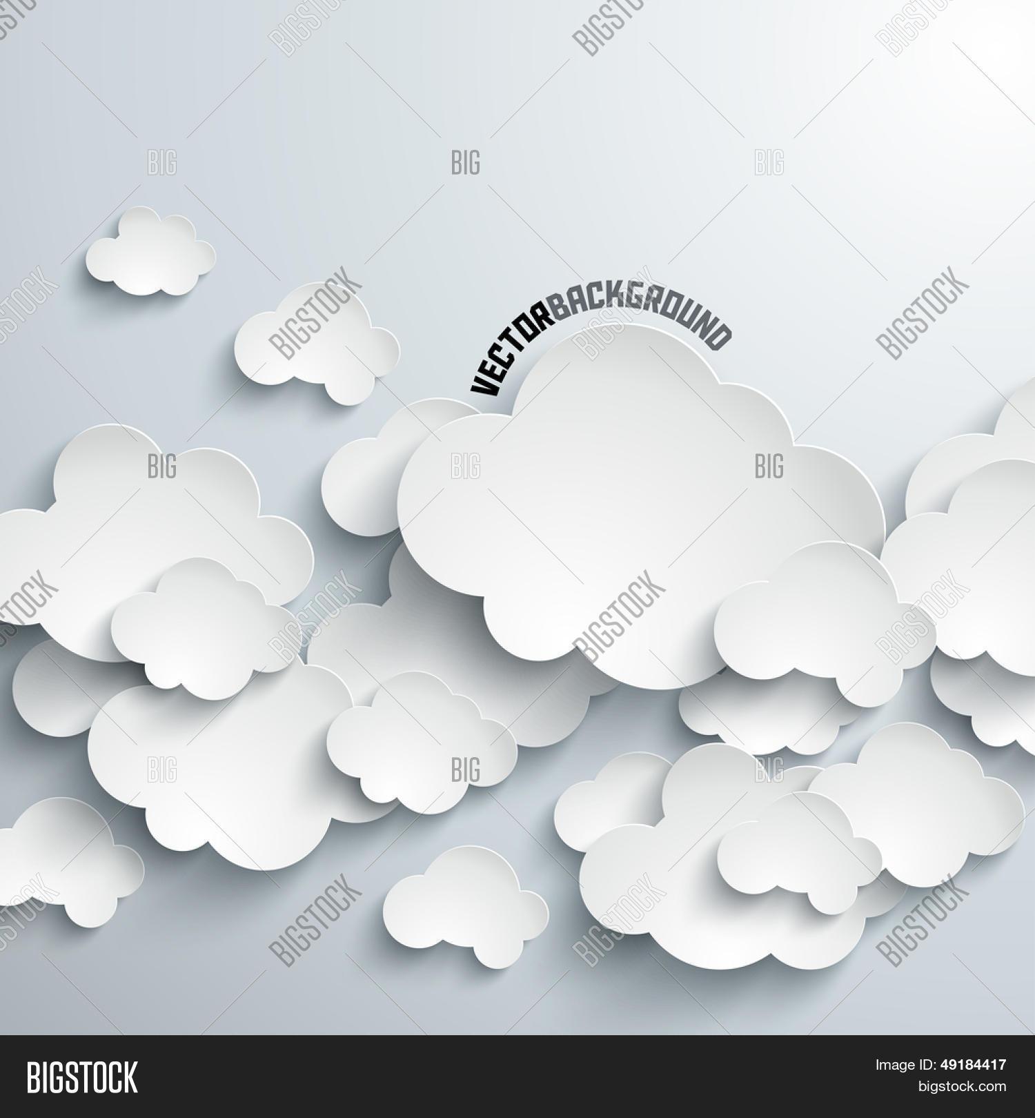 Коронами сердечками, открытка объемные облака