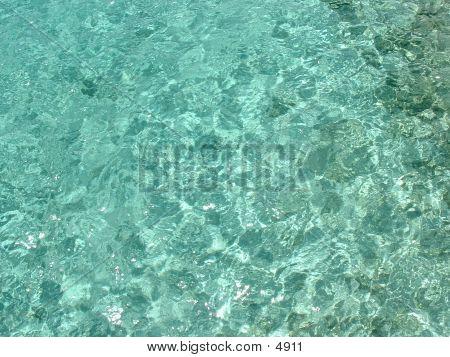 Clear Blue Water Sea Floor