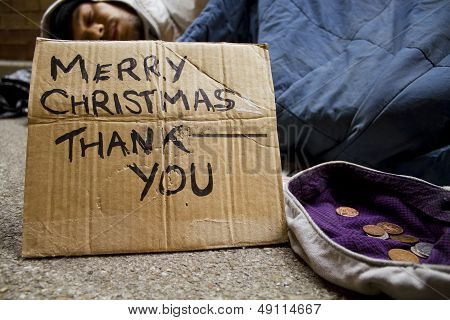 Sleeping Rough at Christmas