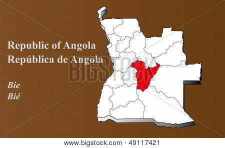 Angola - Bie Highlighted
