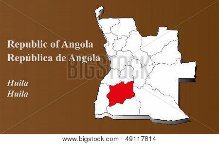 Angola - Huila Highlighted