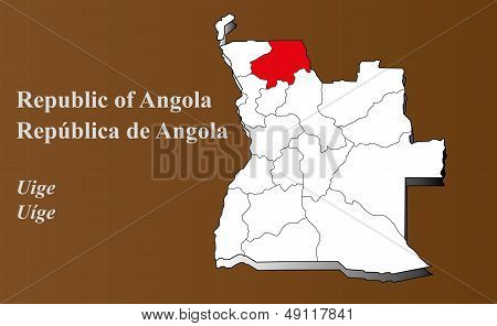 Angola - Uige Highlighted