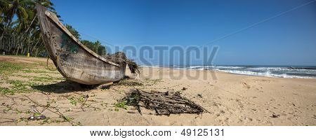 Wooden Boat At The Arabic Sea