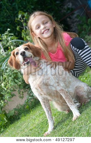 girl with dog