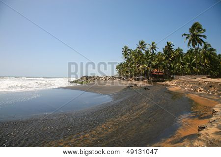 Varkala Black Beach, India.