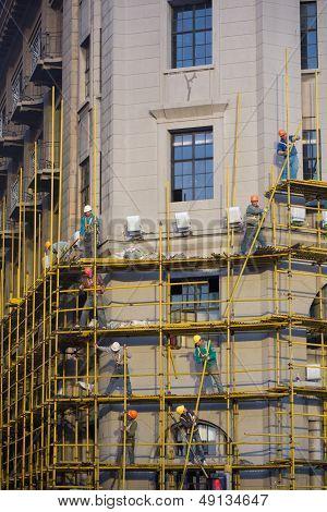 Man At Work In Shanghai