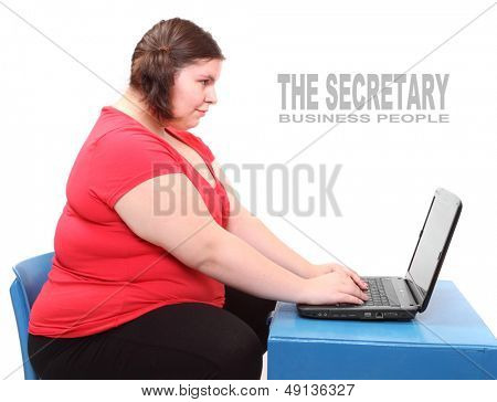 The secretary. Funny picture from the office.