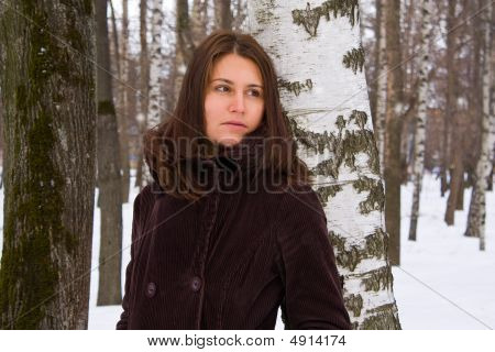 Woman In Wood