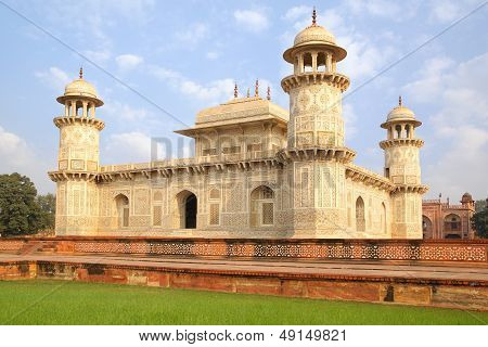Itmad-ud-Daula's Tomb is a Mughal mausoleum. Agra, India poster