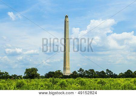 The San Jacinto Monument On A Nice Summer Day