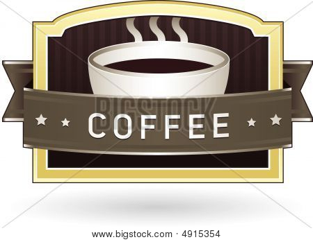 Coffee Product Label