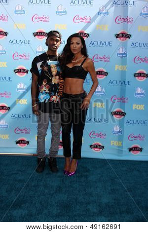 LOS ANGELES - AUG 11:  Big Sean, Naya Rivera at the 2013 Teen Choice Awards at the Gibson Ampitheater Universal on August 11, 2013 in Los Angeles, CA