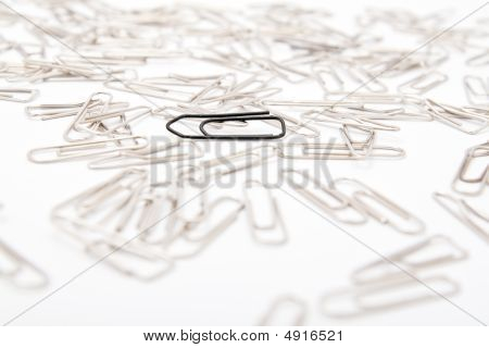 Different Paperclips On White